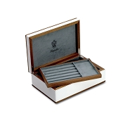 Pineider Boites: Pen Case  - Wood and Leather