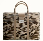 Pineider Cavallino Leather Women's Briefcase - Zebra - Limited Edition