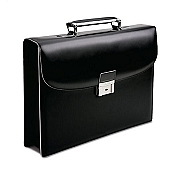 Pineider Optical Leather Briefcase - One Gusset