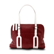Pineider Small Limited Edition Bi-Color Leather Shoulder Bag
