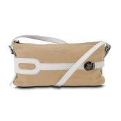 Pineider Small Leather Pouch - Butter White