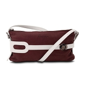 Pineider Small Leather Pouch - Plum White