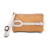 Pineider Small Leather Purse - Butter White
