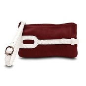 Pineider Small Leather Purse - Plum White