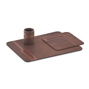 Pineider Small Collection 3-Piece Leather Desk Set