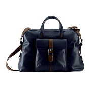 Pineider Soft Mood Leather Two-Handle Bag