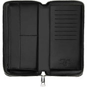 ST Dupont Fire Head Zip Around Long Leather RFID Wallet - Black
