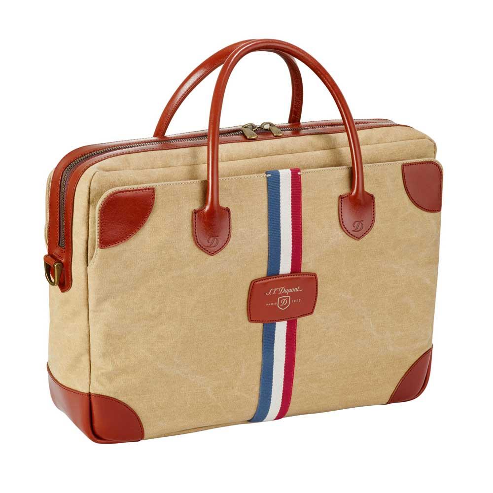 St dupont iconic biege canvas document holder bag for Document holder bag