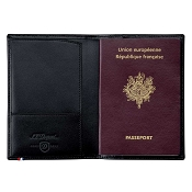 ST Dupont Line D Passport Cover - Black