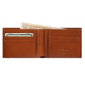 ST Dupont Line D 8 Credit Card ID Papers Brown Men's Leather Wallet