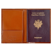 ST Dupont Line D Passport Cover - Brown