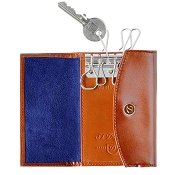ST Dupont Line D Key Holder Wallet - Brown