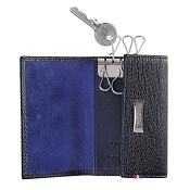 ST Dupont Line D Key Holder Wallet - Black Contraste