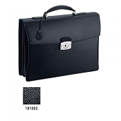 ST Dupont Line D Two Gusset Briefcase - Black
