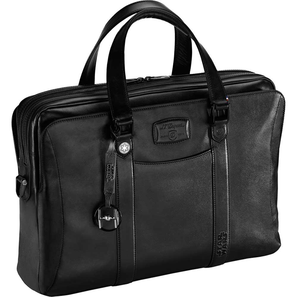 St dupont star wars laptop document holder bag black for Document holder bag