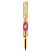 Tibaldi Malta Limited Edition 18k Gold Rollerball Pen
