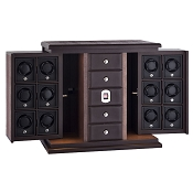 Underwood Biometric Watch Winder Leather Twelve-Module Unit