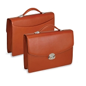 Underwood Italian Leather Single Gusset Briefcase