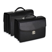 Underwood Italian Leather Triple Gusset Briefcase