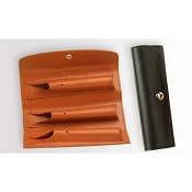 Underwood Leather Pen Pouch - Three Pen