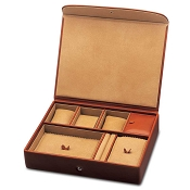 Underwood Luxury Watch and Jewelry Leather Travel Box - Large