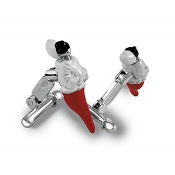 Zannetti Pulcinella Cufflinks - Red