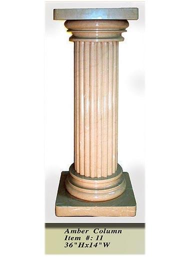 Interior Decorative Column No 11 Amber Onyx