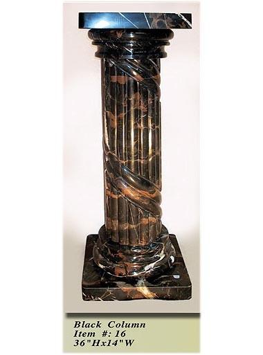 Interior Decorative Column No 16 Black Onyx