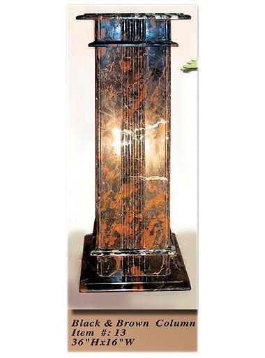 Interior Decorative Column No 13 Black And Brown Onyx