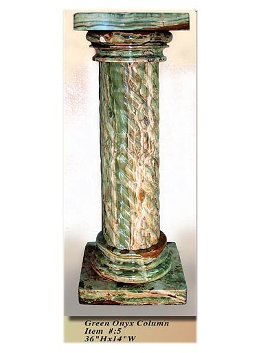 Interior Decorative Column No 5 Green Onyx