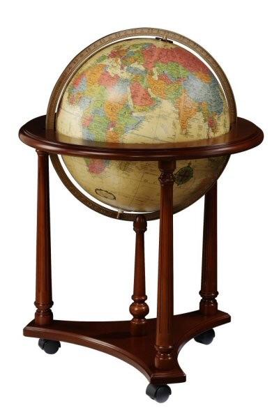 Replogle Lafayette Illuminated Floor Globe Antique