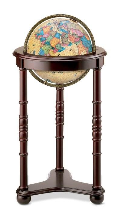 Replogle Austin Illuminated Floor Globe Antique
