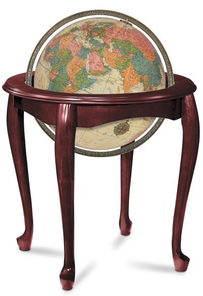Replogle Queen Anne Illuminated Floor Globe