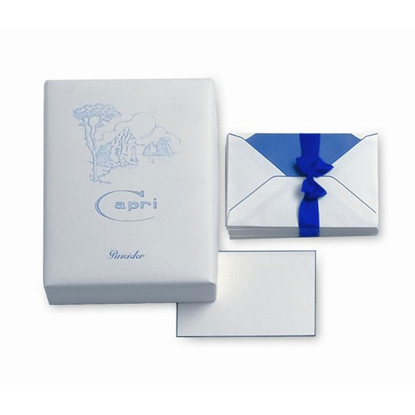 Pineider Capri Stationery - Box of 25 Cards + 25 Envelopes - Form 4