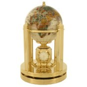 Rotating Clock Smooth Mother of Pearl Gemstone Globe (G150G-SMOP)
