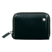 Caran d'Ache Women's Classic Leather Zipper Wallet