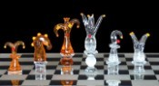 Abstract Clown Limited Edition Crystal Chess Set