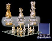 Executive Crystal Chess Set (Large)