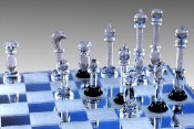 Hand Moulded Glass Chess Set-Large