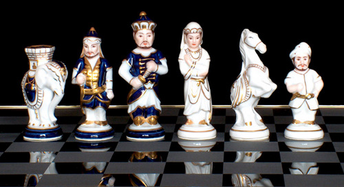 India Porcelain Chess Set