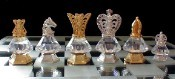Crystal Staunton Chess Set in Swarovski Crystal