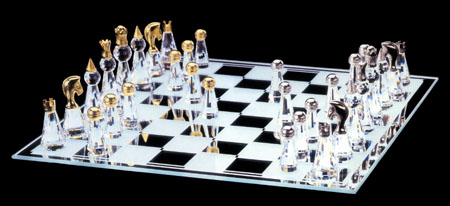 Staunton Crystal Chess Set (Large)