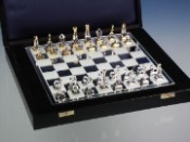 Staunton Strass Crystal and Metal Chess Set