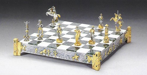 Cowboys Gold and Silver Themed Chess Board