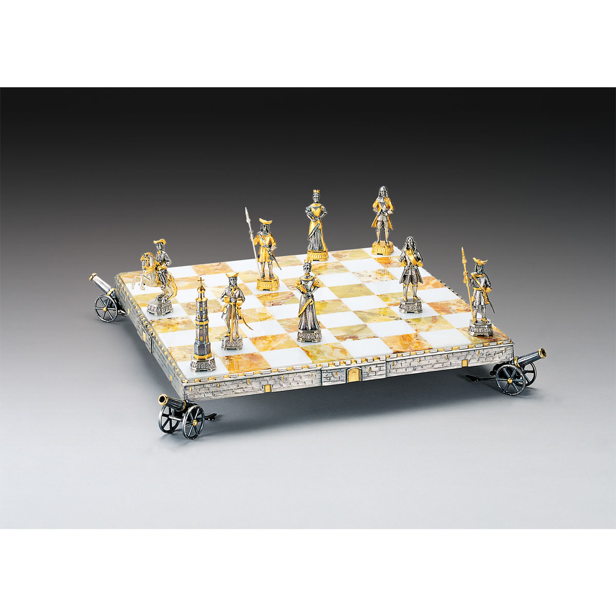 Peter the Great Emperor of Russia (1672-1725) Chess Board | Gold & Silver