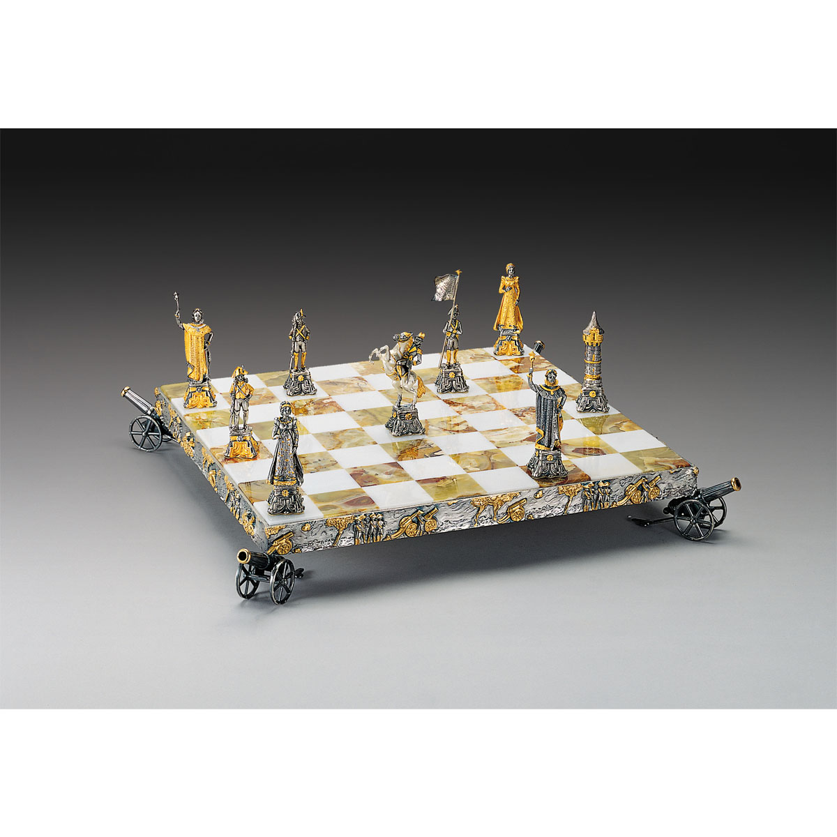 Napoleon Bonaparte Emperor Gold and Silver Themed Chess Set