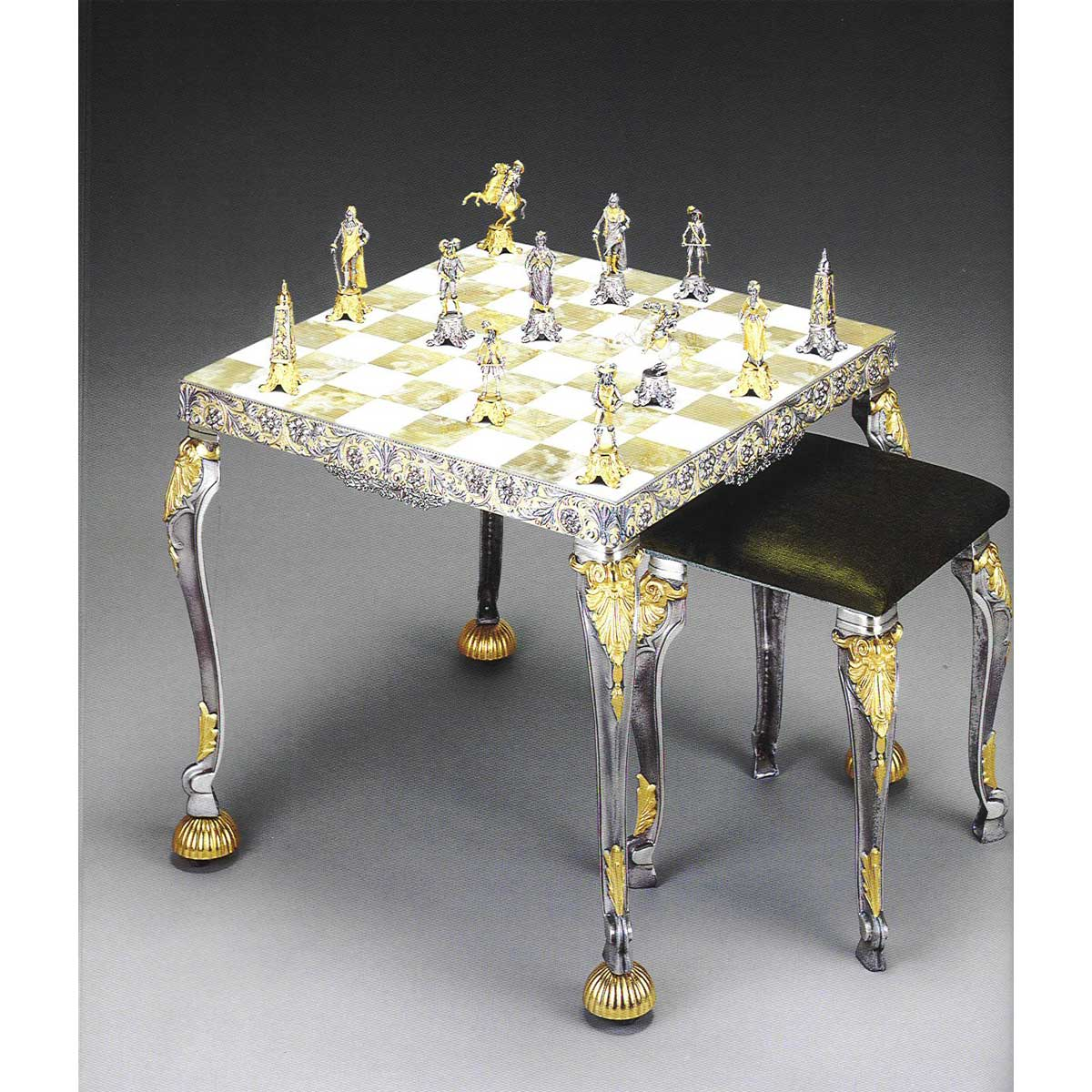 Louis XIV - Sun King ( From 1643) Sunflower Chess Set | Table and Chairs