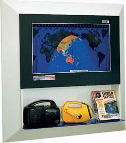 Geochron Flush Mount Shelved Wall Display Kit