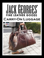 Jack Georges Leather Carry On Travel Bags