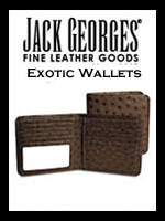 Jack Georges Exotic Leather Wallets